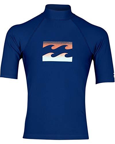 BILLABONG Team Wave SS Camiseta de natación, Hombre, Azul (Navy 21), Medium (Tamaño del Fabricante:M)