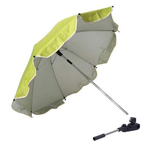 ZZALLL 1 Juego de sombrilla para Cochecito de bebé, Paraguas para Cochecito de niño, Paraguas portátil Universal de protección Solar UV de plástico Plateado