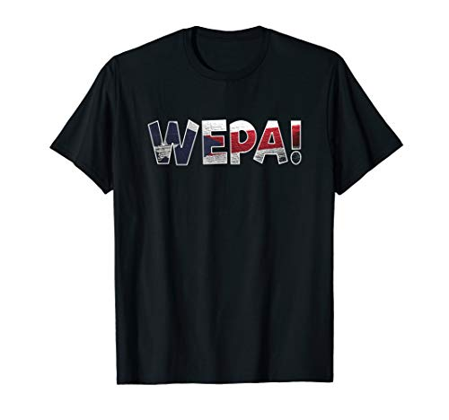 Wepa Puerto Rico Flag Exciting Expression T-Shirt