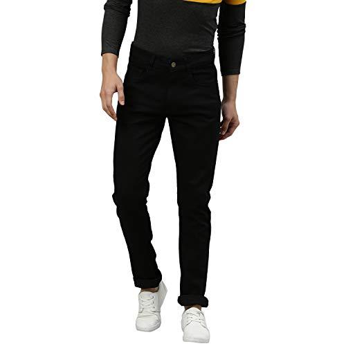 Urbano Fashion Men's Black Slim Fit Solid Jeans Stretchable (hps-black-32-03)