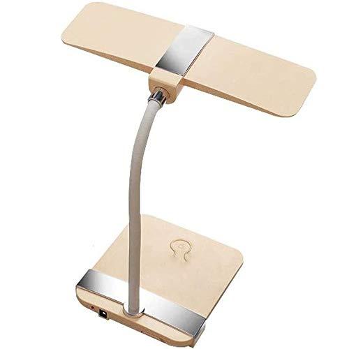 Liangsujiantd Flexo Led Escritorio, Protección for los ojos minimalista moderna lámpara de mesa, sin pasos de atenuación, regulador táctil Mesita de luz de la lámpara, cuello de cisne, recargable, ple