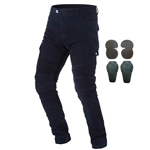 Mannen Motorfiets Rijden Beschermende Broek Denim Jeans Met Pantser 4 X Knie Heup Pads