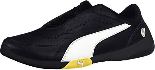 PUMA Ferrari Kart Cat III Sneaker Black-White-Blazing Yellow UK 11_Adults_FR 46