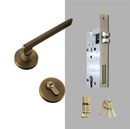 Messing deurhendel Demper Zwart Goud Interieur Slaapkamer Badkamer Houten deurslot Set Dummy slingerknop, AB