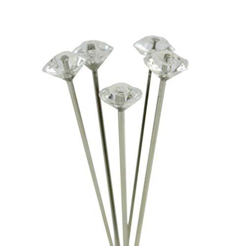 Alfileres decorativos con diamantes para ramos de boda, peinados, vestido de novia (40 unidades)