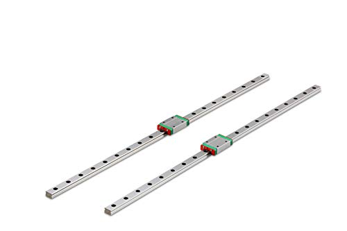 Surprecision Mini Linear Motion Rail MGN12H-1000mm(2pcs) for Simple Quick Solution of DIY Project and CNC