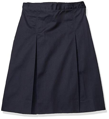 Classroom School Uniforms Girls' Big Kick Pleat Skirt, Dark Navy, 10.0