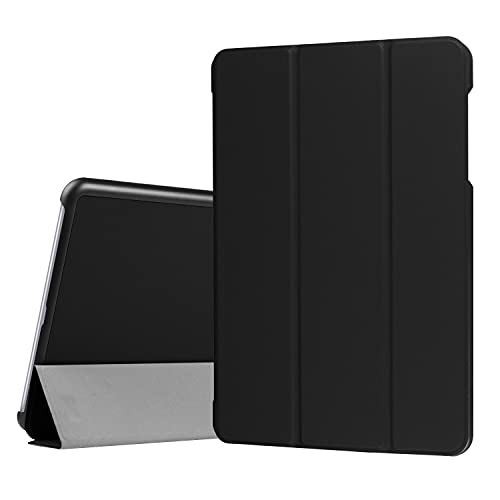 JIANWU Hüllenabdeckung, for asus zenpad. 3S 10 Z500KL / zenPad Z10 ZT500KL. Tablet-Gehäuse Leichtgewichtiger Trifold-Stand PC. Hard Back Coverwith Trifold & Auto Wake, Schlaf (Color : Black)