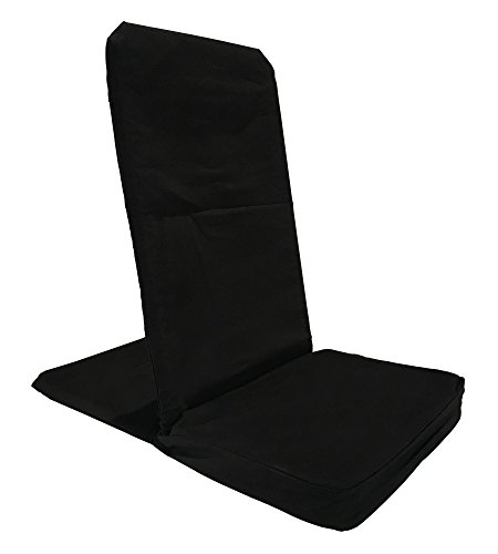 BackJack Floor Chair, Regular, Black