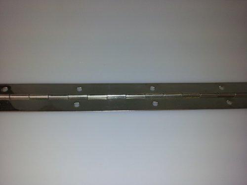 1 charnière à barre en acier, 32 x 0,7 x 1200 mm