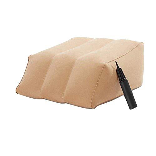 ROSELI Almohada Inflable para Piernas Almohada de CuuA Almohadas de Posicionador de Piernas Rampa para Piernas Levantador Reposapiernas Suave CojíN de CuuA para Cama Almohada de Rodilla