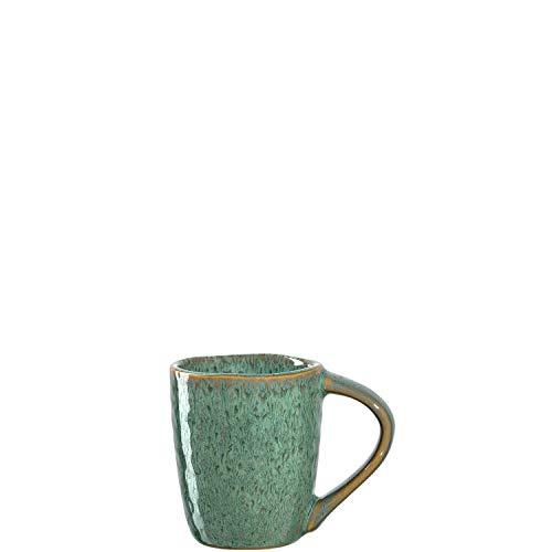 Leonardo Matera Espresso-Tassen 4-er Set, spülmaschinengeeignete Espresso-Gläser, 4 Mokka-Becher aus Steingut, Keramik-Tassen, grün 90 ml, 018597