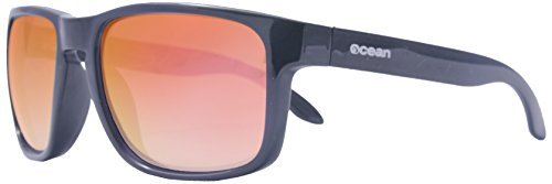 Ocean Sunglasses - Blue Moon - lunettes de soleil polarisées - Monture : Noir Laqué - Verres : Revo Orange (19202.1)