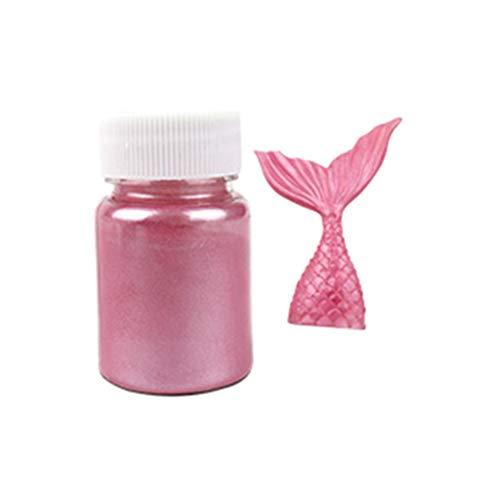 NKDD 15g Polvo Comestible de Plata Dorada con Purpurina para Decorar Pasteles de Fondant para Hornear comestibles con Purpurina Rosa