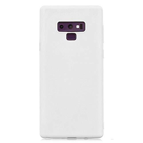 cuzz Custodia Samsung Galaxy Note 9+{Film di Vetro temperato}Silicone TPU Cover Morbida Protettiva Custodia Ultra Sottile Leggero Cover-Bianco