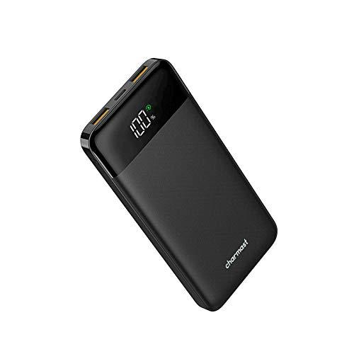 Charmast モバイルバッテリー PD QC3.0 USB C 10400mAh 薄型 軽量 LED 小型 LCD 残量表示 コンパクトミニ ...
