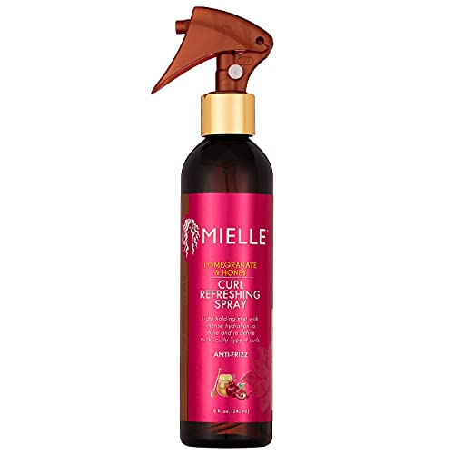 Mielle Organics Pomegranate & Honey Curl Refreshing Spray, Shine and Anti-Frizz for Type 4 Curls, 8 Ounces