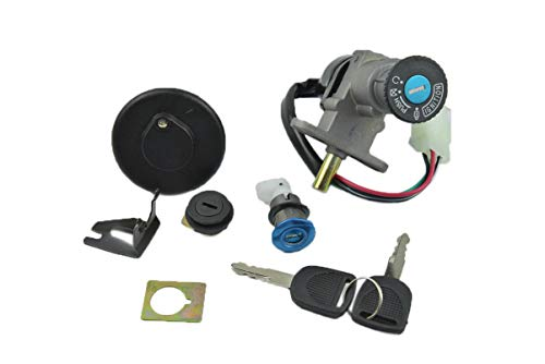 ZXLLNEUR Accessoires Scooter Contactslot Kit For 50cc 125cc 150cc GY6 met 4-polige stekker (Color : Black)