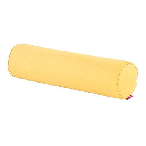 Cuscino cilindrico, Cuscino Rotondo del Divano, Cuscino Lungo, Cuscino Lombare per Le Donne in Gravidanza, Schienale per Bambino, 2 Dimensioni (Colore : Lemon Yellow, Dimensioni : 60×15cm)