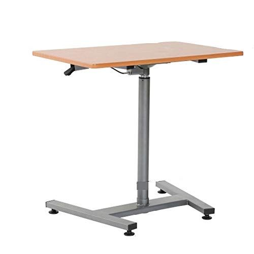 ZZWBOX Stojący biurko komputerowe biurko podnoszony stół nauka biurko laptop biurko platforma mobilna podnoszona biurko komputerowe - do nauki biura, srebrnograyFeet