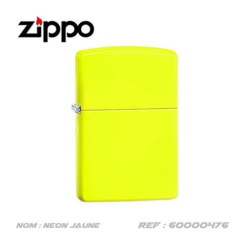 Briquet zippo jaune neon avec coffret nr 60000476