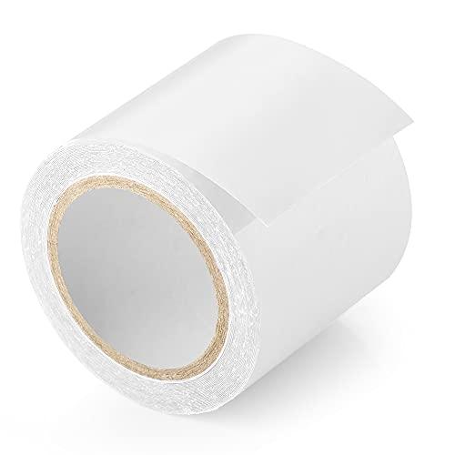 ecooe, nastro adesivo per tende, 5 cm x 5 m, trasparente, impermeabile, professionale, adatto per tende rivestite in PVC, tende da sole e gazebo