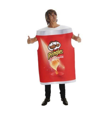 Karabu Costume Tubo Patatine Pringles Original Taglia Unica Uomo Donna