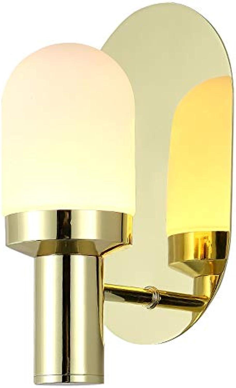 ZSAIMD LED Moderne Einfachheit Wandleuchte Innenbeleuchtung Lampe E27 Edison 1 Licht Eisen Metall Glas Laterne AC90-260V für Schlafzimmer Wohnzimmer Lesen Restaurant Cafe Dekoration
