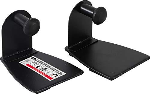BGS 67159 | Magnet-Papierrollen-Halter | 2-tlg. | schwarz | Küchenrollenhalter