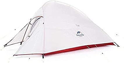 Naturehike Cloud-Up Ultralight Backpacking Tent 2 Person with Footprint - 20D Silicone Coated Backpack Camping Dome Tents 3 Season All Weather Free Standing Lightweight Tent