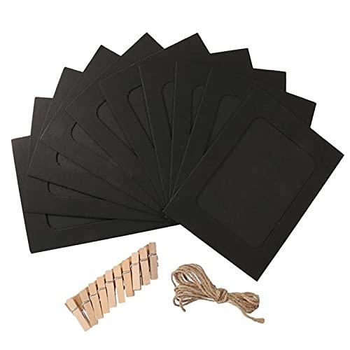 Steelwingsf Portafotos para colgar en la pared, color negro