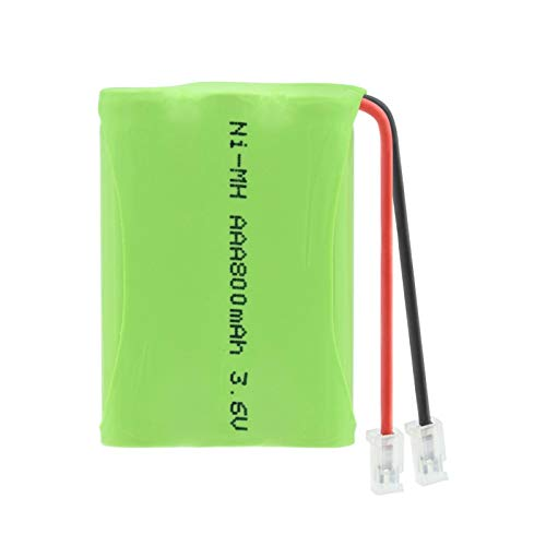 ndegdgswg Groupe De Batteries 3.6v 800mah 3 * AAA Ni Mh, Rechargeable avec Connecteur Universel