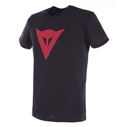 Dainese Camiseta, Negro/Rojo, Talla M