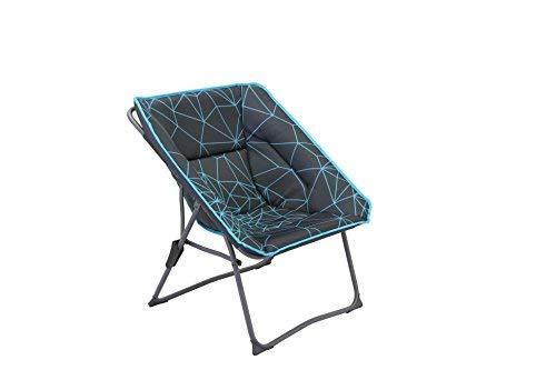 Portal Outdoor Bilbao Moon Chaise de Camping Pliable Unisexe Noir/Bleu Taille Unique Taille Unique Noir/Bleu
