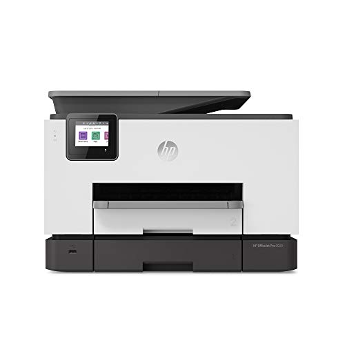 HP OfficeJet Pro 9020 All-in-One Wireless Printer, with Smart Tasks & Advanced Scan Solutions for Smart Office Productivity, Works with Alexa (1MR78A)
