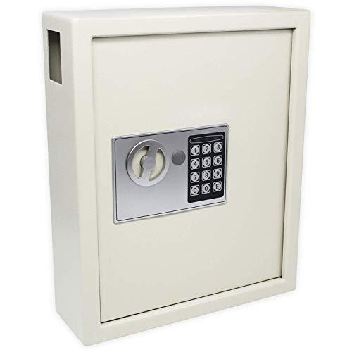 Futura Schlüssel-Kasten/Schrank/Tresor, High security mit elektronische Sicherung, 40 Haken mit seitlichem Schlüsseleinwurf
