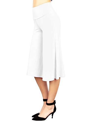 MBJ WB876 Womens Knit Culottes Pants M White