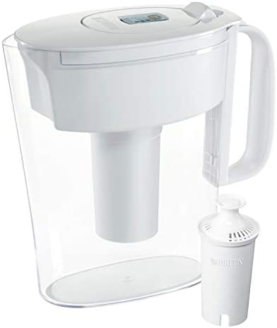 Brita Standard Metro Water Filter Pitcher, Small 6 Cup 1 Count, White