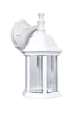 Lit-Path Outdoor Wall Lantern, Wall Sconce Light as Porch Light with One E26 Base Max 100W, Matte Black Finish with Clear Glass, Water-Proof Outdoor Rated