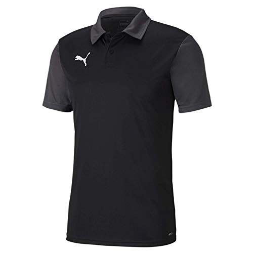 PUMA Herren, teamGOAL 23 Sideline Polo T-shirt, Black-Asphalt, XXL