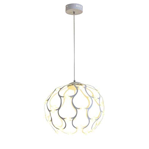 GFDFD Candelabros Modernos Luz LED Lámpara Colgante de Acero Inoxidable Sala de Estar Comedor Baño Dormitorio Sala de Estar
