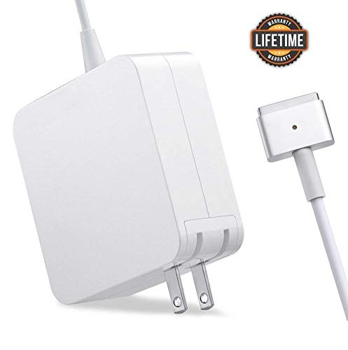 Mac Book Pro Charger, AC 85w Power Adapter Magsafe 2 T-Tip Adapter Charger Connector - Superior Heat Control - MacBook Pro 17/15/13 Inch [After Mid 2012] (85T)