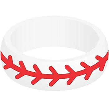 SayitBands Baseball Silicone Ring Size 9