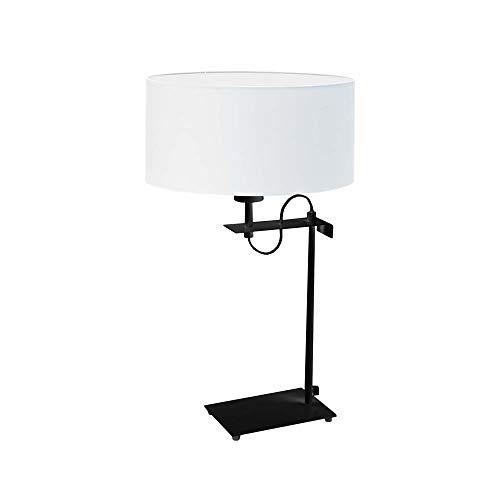 Lámpara de escritorio ALASKA pantalla de lámpara Blanco Marco Negro