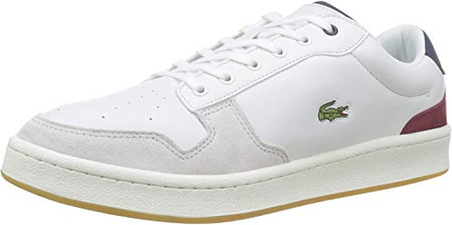 Lacoste Masters Cup 319 1 SMA, Zapatillas Hombre, Blanco (Off Wht/Nvy/Dk Red Ond), 42 EU