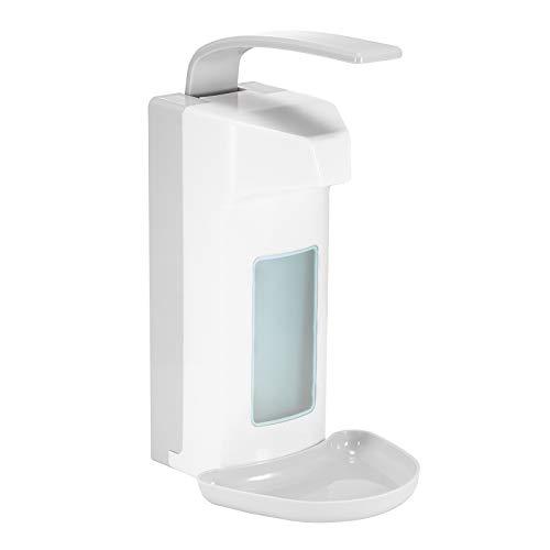 Konesky 1000ml Manueller Seifenspender Wandspender Seifenspender Desinfektionsspender No Touch Kunststoff Dosierpumpe für das Zuhause Büro Schule Krankenhaus (B)