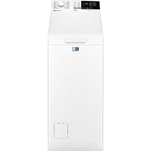Electrolux EW6T4722AF Lavadora de Libre Instalación, Carga Superior, 7 Kg, 1200 rpm, Programa Rápido, Inicio Diferido, Apertura Suave, Display LCD XL, Blanca