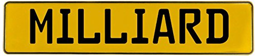 Vintage Parts 724756 Man Cave Wall Art (Milliard Yellow Stamped Aluminum Street Sign)