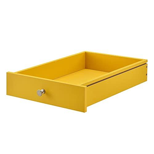 [en.casa] Cajón Elegante y Original para europalé - se Adapta Perfectamente - DIY - Mostaza (9,5cm...