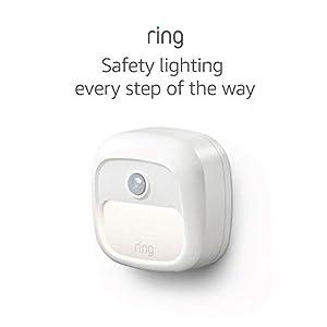 Ring Smart Lighting – Steplight, Battery-Powered, Outdoor Motion-Sensor Security Light, White (Bridge required)